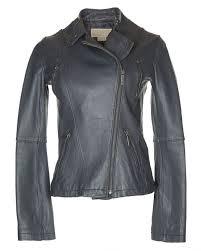 michael kors grey leather biker jacket s