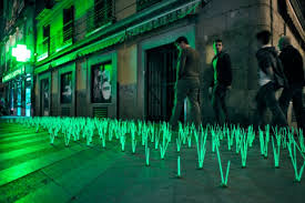 artistic outdoor lighting. luzinterruptus is an anonymous artistic group in madrid who seek to highlight problems within the city using a wide variety of temporary lightbased outdoor lighting i