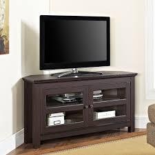 Corner Tv Unit Leick 46 In Corner Tv Stand Black Hayneedle