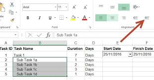 Excel Gantt Chart With Subtasks Create Project Plan In Ms Excel With A Gantt Chart In Under