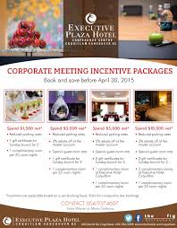 Incentive Flyer Corporate Package Incentive Flyer Executive Hotels Resorts
