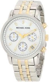 top 10 michael kors watches mk5057 two tone chronograph stones