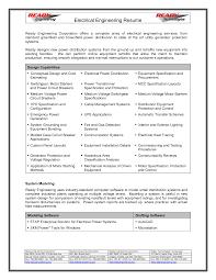 Electrical Design Engineer Sample Resume 4 Engineering Format
