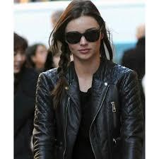 Miranda Kerr Leather Jacket | Balenciaga Quilted Biker Jacket & ... Miranda Kerr Balenciaga Quilted Leather Biker Jacket ... Adamdwight.com