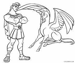 From zeus (king of the gods). Printable Pegasus Coloring Pages For Kids