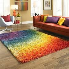 Stella Rainbow Shag Rug 7feet7 x 10feet5 contemporary area square