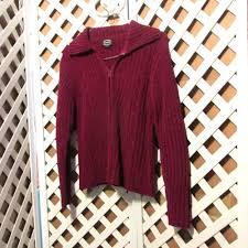 Designers Studio Originals Designers Studio Originals Ladies Cardigan Sweater Pl Wine
