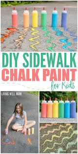 need a new idea to keep your kids busy outside this diy sidewalk chalk paint