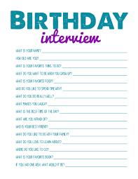 printbale birthday interview great for scrapbook layout printbale birthday interview great for scrapbook layout