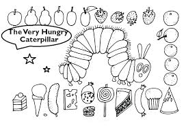 The Hungry Caterpillar Coloring Page The Hungry Caterpillar Coloring