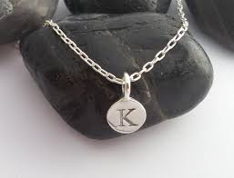 details about sterling silver letter initial necklace personalised charm necklace all letters