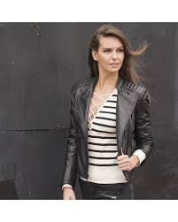 quilted shoulders customer favorites women wilsons wilsons leather black rivet cycle jacket fall 2016