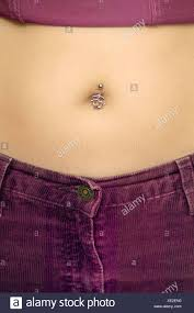 Belly Button Piercing Stock Photo 284026540 Alamy