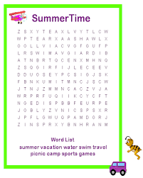 Summer Word List 35 Free Printable Summer Word Search Pdf For Fun 2019