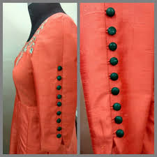 3 Quarter Sleeves Design Dress 3 4 Design Sleeves Buttons With Looping Kurti