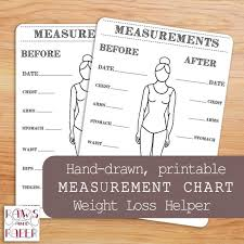 Printable Body Measurements Chart For Your Bullet Journal Or Planner Inches Lost Chart Weight Loss Workout And Fitness Tracker