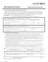 My Sanford Chart Login 2011 Sanford Adult Teen Proxy Form Fill Online Printable