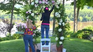 Wedding Arch Decorations Designing A Wedding Arch With Flowers Youtube