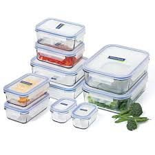 glasslock tempered glass food container set 10pce peter s of kensington