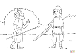 Joshua Meets Commander of the Army of the Lord coloring page ...