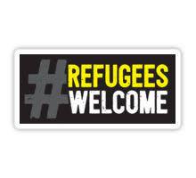 Bildergebnis für refugees welcome sticker