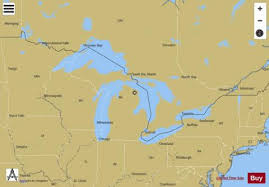 Gps Nautical Charts App For Android General Chart Of The Great Lakes Marine Chart
