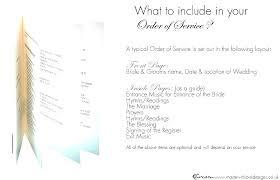Wedding Ceremony Brochure Ceremony Booklet Template Wedding Booklet Template Free