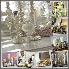 mercury glass candle holder tablescape