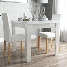 white gloss dining table white gloss dining table 2 leather dining chairs oslo 120cm white high gloss stowaway dining table and chairs