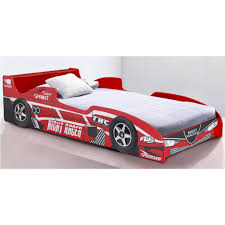sb racing car beds for kids image of melbourne single frame w trundle in red