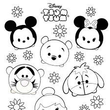 Disney Tsum Tsum Coloring Pages Black And White Coloring Pages