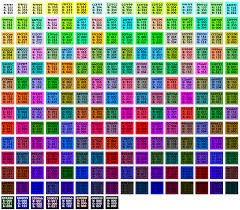 Sample Html Color Code Chart BrowserSafe Colors Organized By Value Lights And Darks With Hex 12