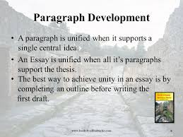 paragraph development ppt 6 paragraph development