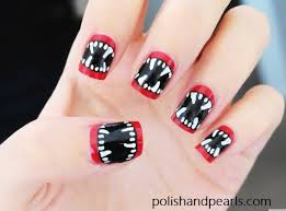 o diy nail art vampire fangs facebook