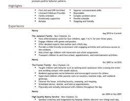 Babysitting Resume Examples Babysitting Certificates Free Copy Charming Nanny Resume Example 56