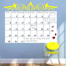 large wall calendar dry erase yellow decorations decal white board illuminated stickers vinyl yearly