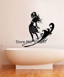 Surfer Hula Meisje Muurstickers Home Decor Woonkamer Vinyl