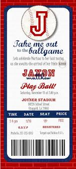 Invitation Ticket Template Gorgeous Baseball Ticket Shower Baseball Ticket Birthday Invitation