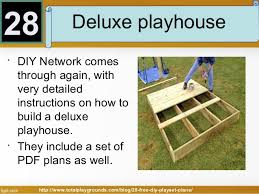 Free DIY Playset Plans for Your Backyard    playhouse  but a