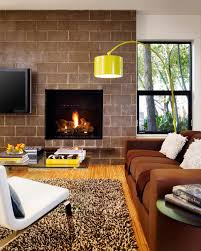 Yellow Brown Living Room Rooms Viewer Hgtv