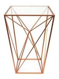 Small Picture Geometric Copper Alcove Table Metal With Glass Top Home of