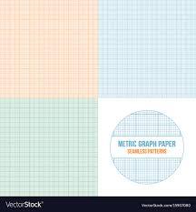 Metric Graph Paper Seamless Patterns Set