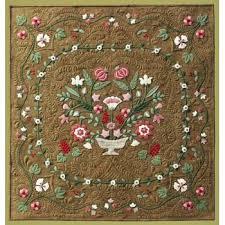 Flower Garden Wool Applique Quilt Pattern & Antique Flower Garden Wool Applique Quilt Pattern Adamdwight.com