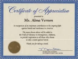 Certificate Of Appreciation Volunteer Work Impressive Certificate Of Service Template Ideas Florida