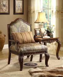 Traditional Accent Chairs Living Room Homelegance Fiorella Faux Silk Accent Chair 8412 1