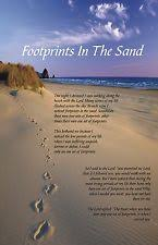 footprints in the sand religious inspirational poster 11x17 laminated