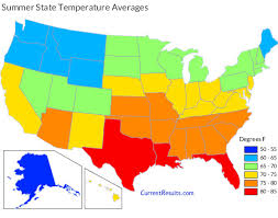 Summer Temperature Averages For Each Usa State Current Results