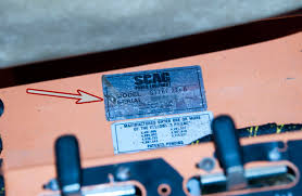 where to the model and serial number on a scag turf tiger locating the model and serial numbers on a scag turf tiger