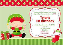 Christmas Birthday Party Invitations Christmas First Birthday Party Invitations First Birthday Christmas