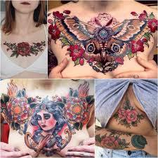 женские тату на груди тату на груди для девушек Tattoo Ideasru